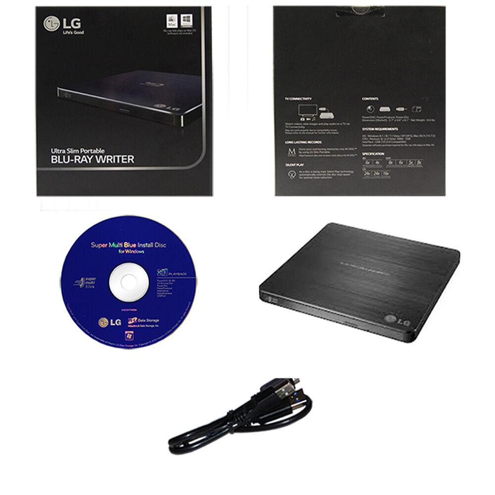 LG Wp50nb40 6x Slim M-disc Blu-ray Bdxl Cd Dvd External W...
