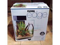 Fluval Edge Glass LED Aquarium Fish Tank 46L (Black)