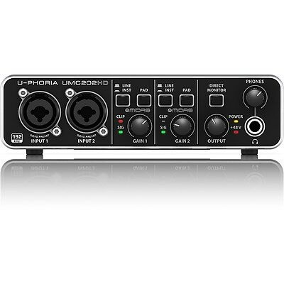 Behringer U Phoria Umc202hd Usb Audio Home Studio Vocal Recording Interface