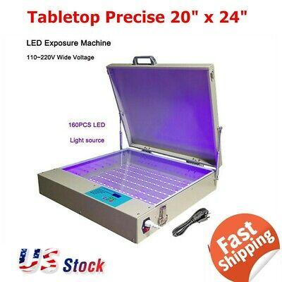 20 X 24 80w Tabletop Precise Led Uv Exposure Unit Screen Printing Equipment