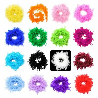 40-85 Gram 2 Yard 100% Natural Feather Boa Chandelle Costume Wedding Party Decor