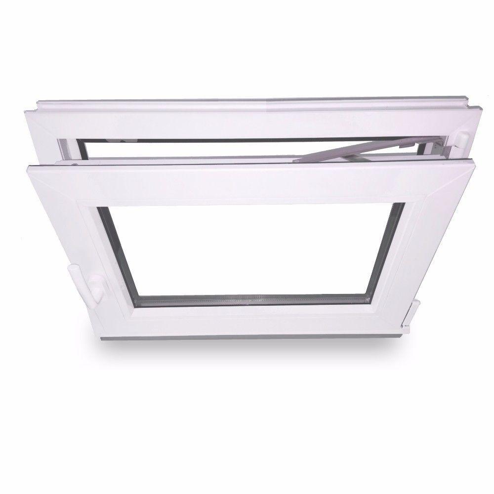 Kellerfenster Fenster Kunststofffenster Kippfenster 2-Fach Verglasung Weiß NEU::