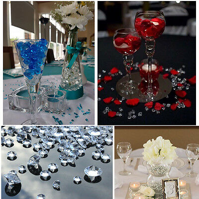 1000pc 8mm Acrylic Diamond Confetti Table Scatter Wedding Vase Filler Decoration ()
