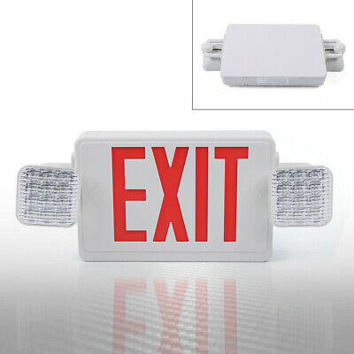 Us Pack - Red All Led Exit Sign Light Square Head Combo - Gs-es22 50 9 21cm