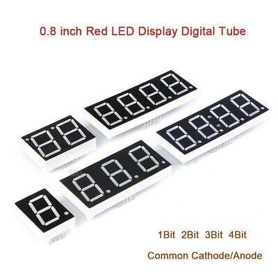 0.8 Inch Red 7 Segment Led Display Digital Tube Common Cathodeanode 1234bit