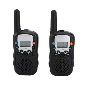2 Pcs 0.5W UHF Auto Multi-Channels 2-Way Radios Walkie Talkie T-388