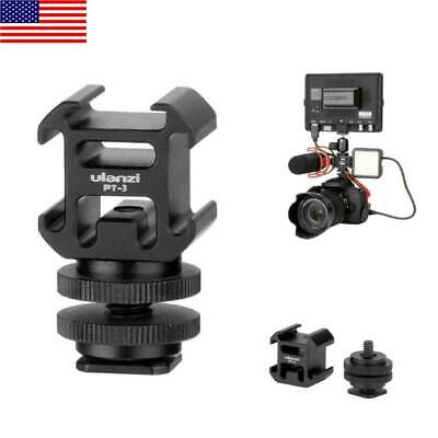 Ulanzi Camera 3in1 Hot Shoe Mount Adapter Mic LED Video Light for DSLR Camera Camera Hot Shoe Adapter