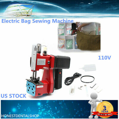 Industry Electric Bag Sewing Machine Sealing Sack Stitching Closer 15000rpm 110v