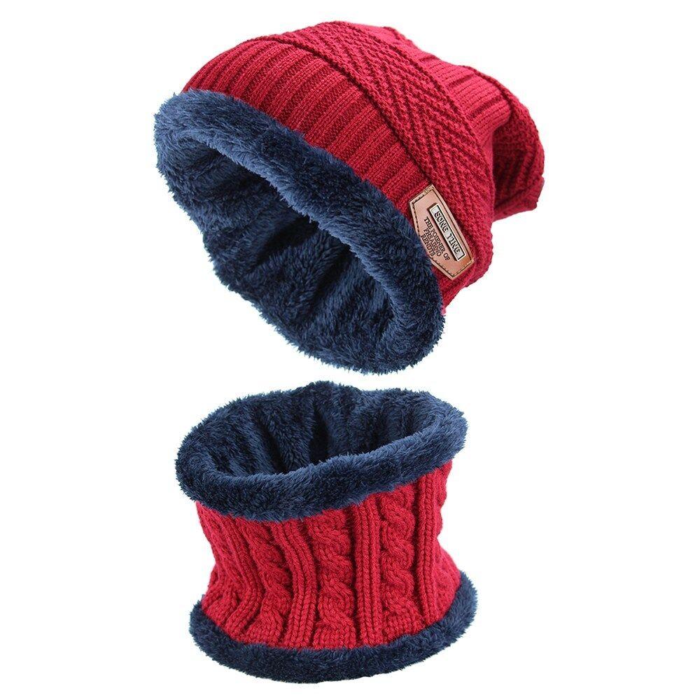 Adults Skull Fishing Elastic Knitted Beanie Cap Winter Warm Skull Hats
