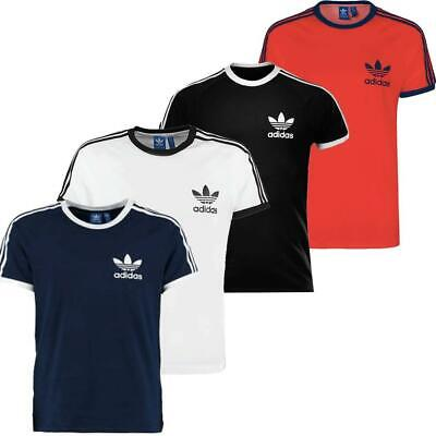 Adidas Mens T-shirt California Original White/Red/Black/Navy
