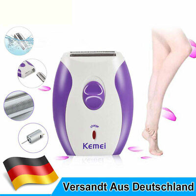 Elektrischer Lady Shaver Damenrasierer Trimmer Wet & Dry Für Gesicht und Körper