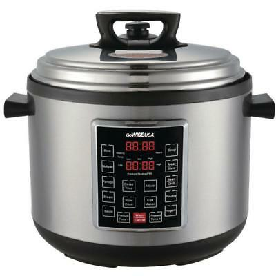 GoWISE USA 14 Qt. Electric Pressure Cooker XXL With 12-Presets Cooking Pot Steel