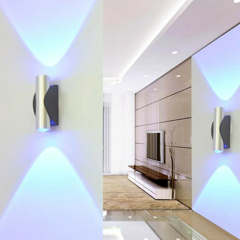 Up Down Led Light Modern Indoor Wall Lamp Lighting Corridor Bedroom Decor Uk Ebay