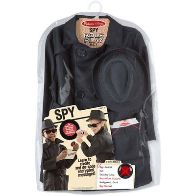 Melissa and Doug Role Play Dress Up Set, Spy - Imaginative Play for Kids - Spy Costumes For Kids