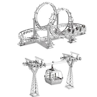 Roller Coaster Models (Roller Coaster and Cable Car Metal Model Kit 3D Laser Cut 3D Puzzle)