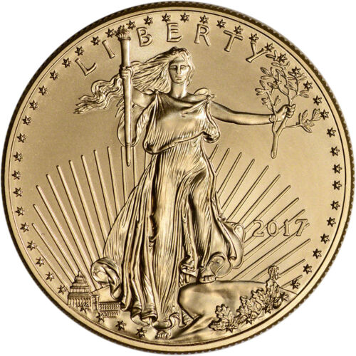 Купить 2017 American Gold Eagle (1 oz) $50 - BU