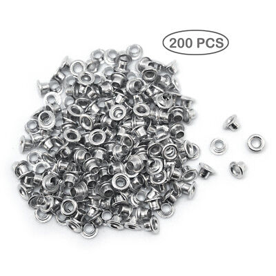 "200 PCS 1/8"" Silver Eyelets-Scrapbooking Card Making Luggage/Cruise/Pet ID Tag"