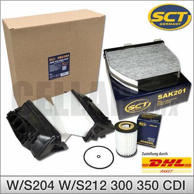 Mercedes GLK C-Klasse E-Klasse 204 212 300CDI 350CDI Inspektionspaket Filter SCT