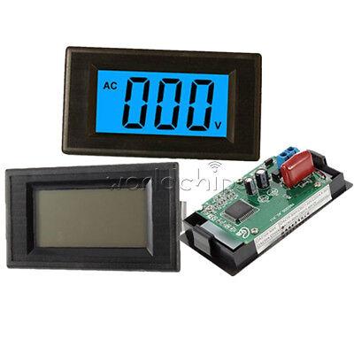 Blue Digital Voltmeter Panel 24 Wire Ac 0-500v Lcd Alternating Voltage Meter