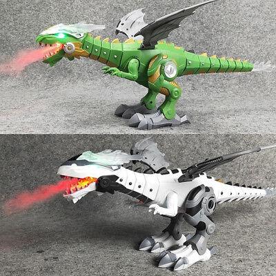 Walking Dragon Toy Fire Breathing Water Spray Dinosaur WeeziShop Xmas Gift US5f - Dragon Dinosaur