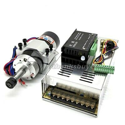 Er11 Brushless Spindle 500w Clamp Base Ws55-220 Bldc Motor Driver Controller