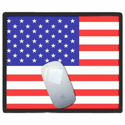 Usa Flag - Thin Pictoral Plastic Mouse Pad Mat Badgebeast