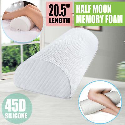 Memory Foam Half Moon/Half Cylinder Knee Neck Roll Pillow Leg Back Head Support