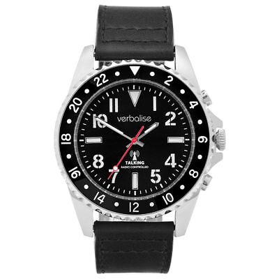Luxurious Men's Talking Global Radio Controlled Watch, Silver Case Deluxe Range