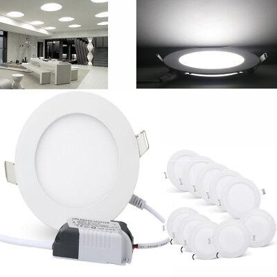 10-100Stück 3W LED Deckenlampe Einbaustrahler Einbau Deckenleuchte Kaltweis Lamp ()