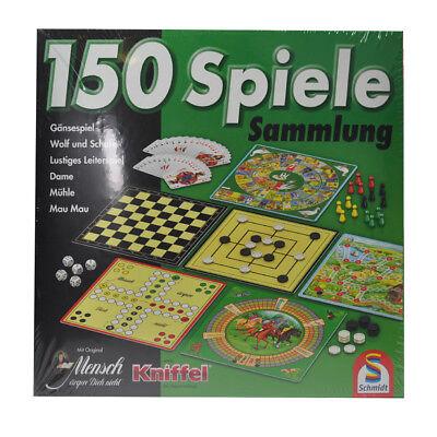 Spielesammlung 150 Spiele von Schmidt - Mau Mau Mühle Mensch ärgere Dich nicht