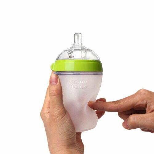 Comotomo Baby Bottle Set, Green - 8oz (2 Pack)