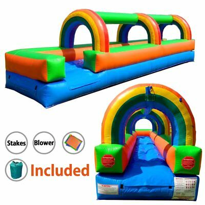 Waterslide Rainbow Moonwalk Slip-N-Slide 25' Inflatable Jumper With - Inflatable Slip N Slide