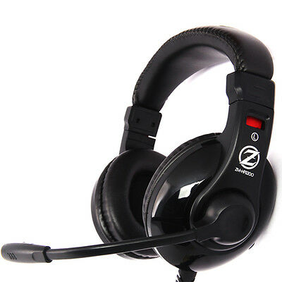 Zalman ZM-HPS200 Gaming PC Headset Chat Multimedia Kopfhörer mit Mikrofon.DHL