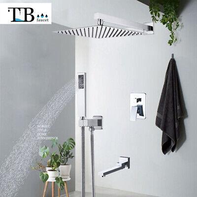 Set de ducha de lluvia con cascada cromo en pared Grifo acero...