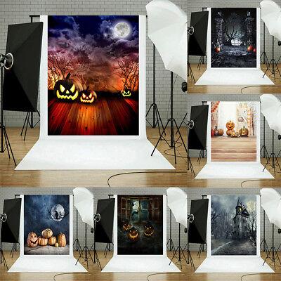 Halloween Wall Backdrops (Halloween Backdrops Vinyl Wall Floor Photography Background Studio Props 3x5FT)