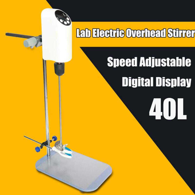 40L Electric Overhead Stirrer Digital Display Lab Mixer Speed 20rpm IP42