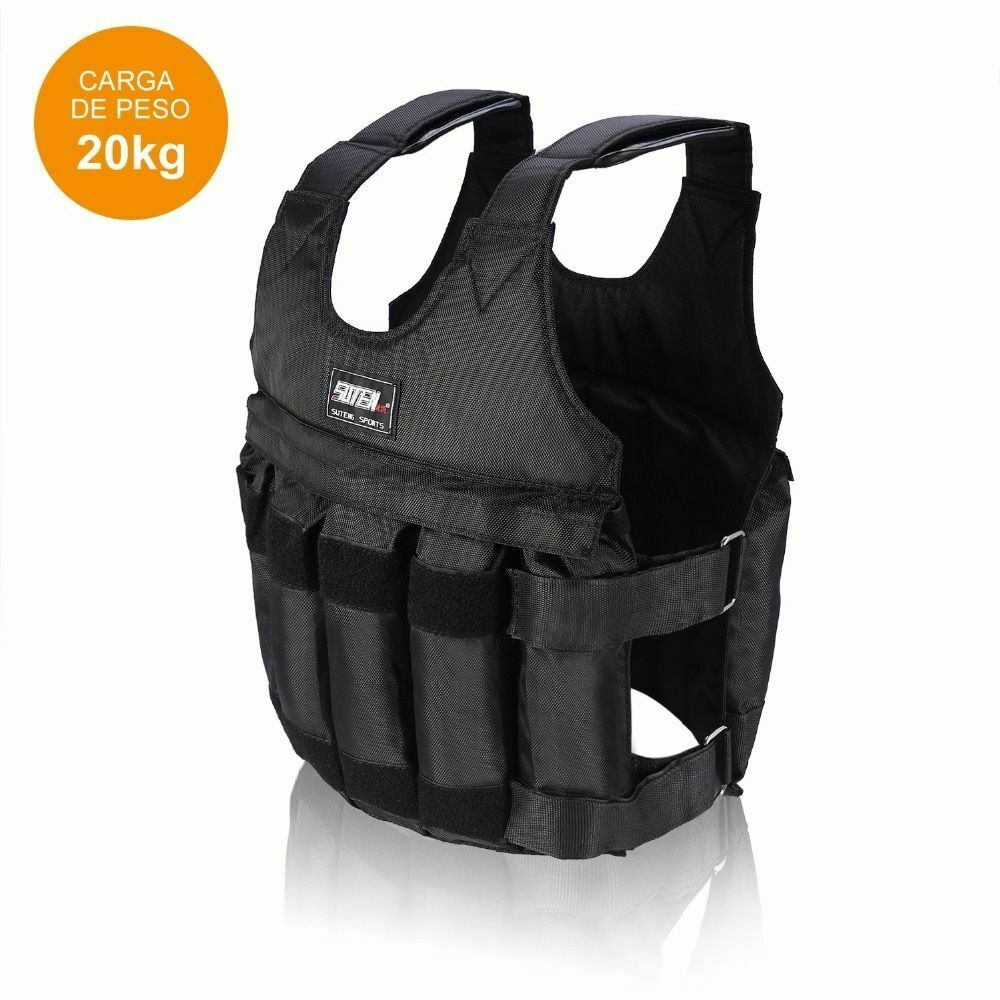 Fitness Weighted Vest 20 Kg Training Jacket Adjustable Gym E