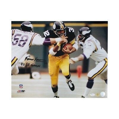 75c7394058b Franco Harris 4x SB Champs Autographed Pittsburgh Steelers 16x20 Photo -  JSA COA