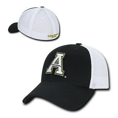 NCAA Appalachian State Mountaineers Structured Mesh Flex Baseball Caps Hats (Ncaa Baseballs)