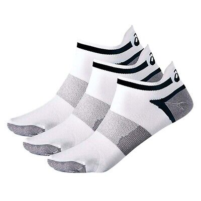 Asics Lyte 3 Pack Mens Running Fitness Training Ankle Sock White - UK 6-8.5
