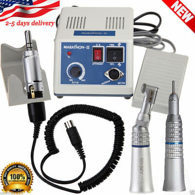 Dental Lab 35k Rpm Marathon Electric Micromotor Contra Straight Handpiece Burs