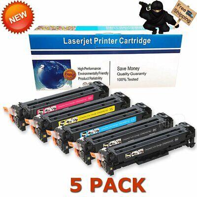 5x CE410A Toner Cartridge Set for HP 305A LaserJet Pro 400 Color M451nw M475dw