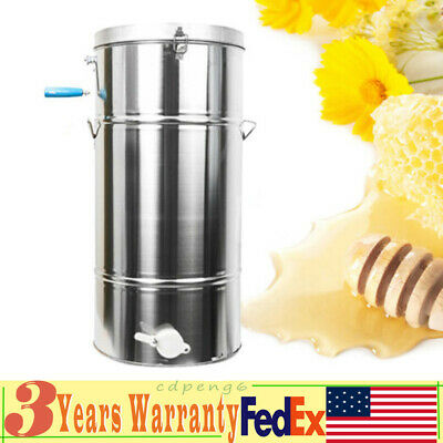 Two 24 Frame Honey Extractor Durable Stainless Steel Beekeeping Bee Hive Equip