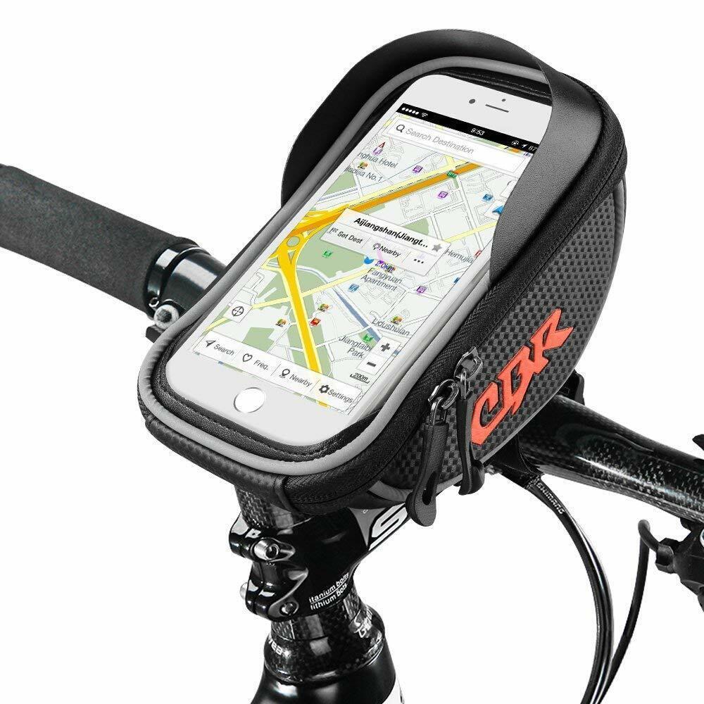 Fahrrad Rahmentaschen Telefon bis zu 6 Zoll Wasserabweisende Handyhalterung