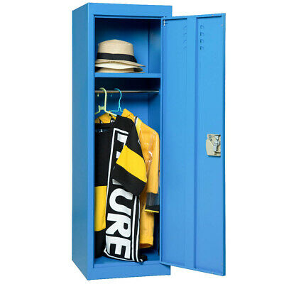 2-layer Organizer Blue Lockers Storage Cabinet Office Wardrobe Whanging Rods