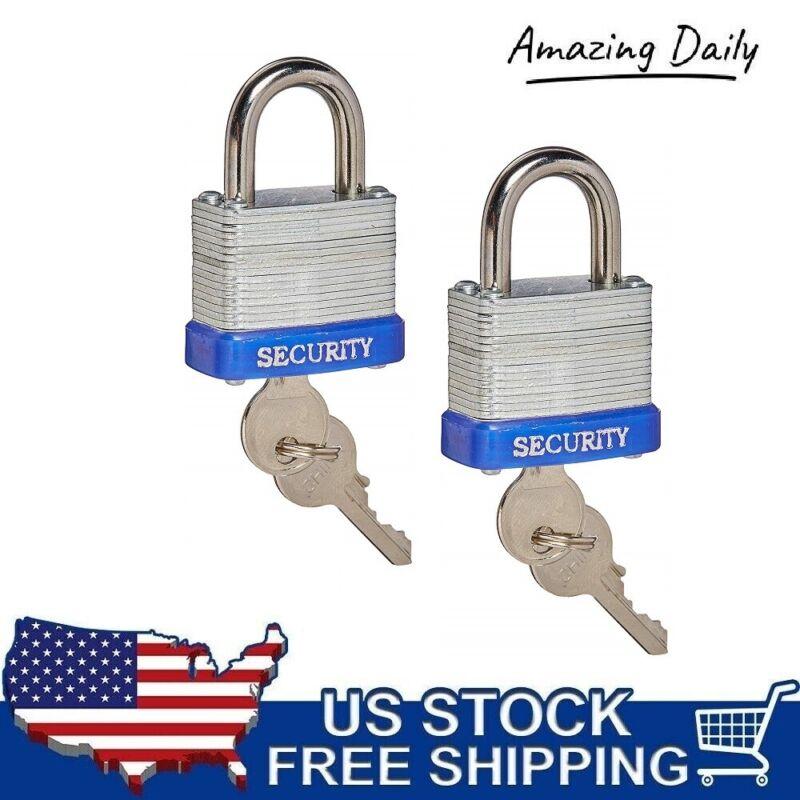 "1-1/2"" (40mm) Laminated Pad Lock Padlock Security Set Keyed Alike Resist Cutting"