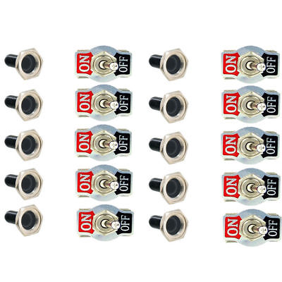 10x Toggle Switch Heavy Duty 20a 125v Spst 2terminal Onoff Waterproof Boot Atv