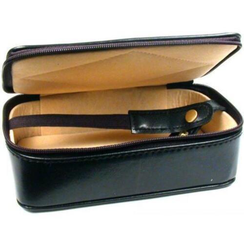 "Leather Parcel Paper Travel Case Jewelers Storage box 6"" x 3 1/2"" x 1 3/4"""