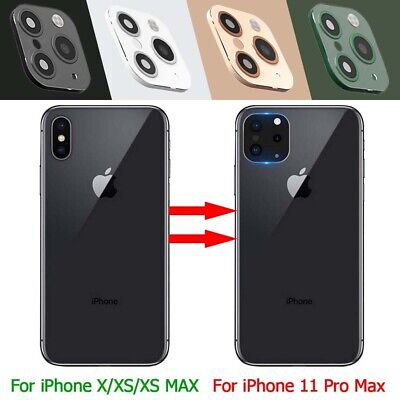 For iPhone X XS XS MAX Change to iPhone 11 Pro Max Camera Lens Protector Sticker