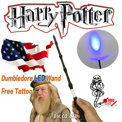 New Harry Potter Cosplay Dumbledore Wizard Led Magic Wand Elder Wand Free Tattoo